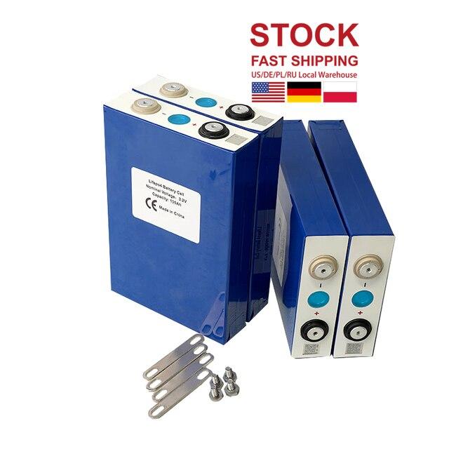 2020 NEUE 4PCS 3,2 V 105Ah Lifepo4 Batterie ZELLE Nicht 100ah 12V105Ah Für EV RV Pack Diy Solar EU UNS STEUER FREIES UPS oder FedEx