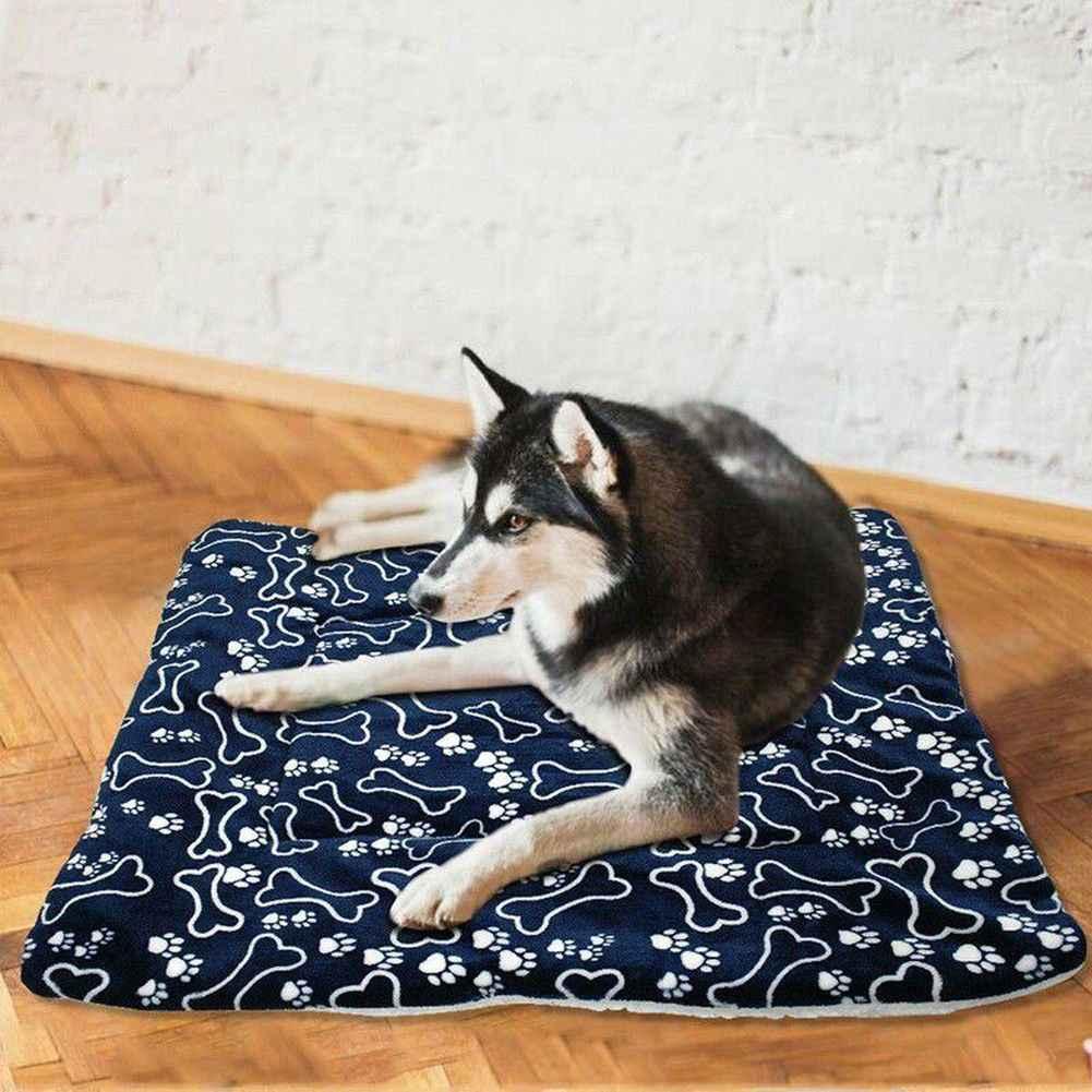 Miękkie zwierzęta pies ciepłe łóżko dom dla kotów zmywalny koc domowy duży pies poduszka na łóżko materac hodowla miękka skrzynia mata koty poduszka narzuta