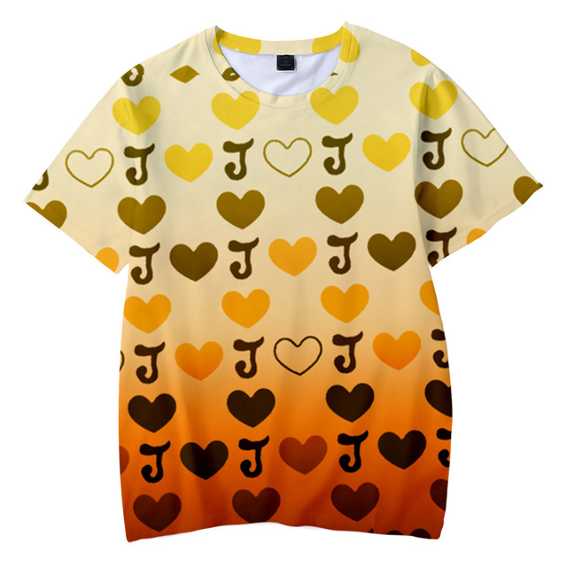 JOJO 3D T Shirt Men/women Anime JOJO's Bizarre Adventure Cosplay Costume Kujo Jotaro Kira Yoshikage T-shirt Streetwear Tops 2