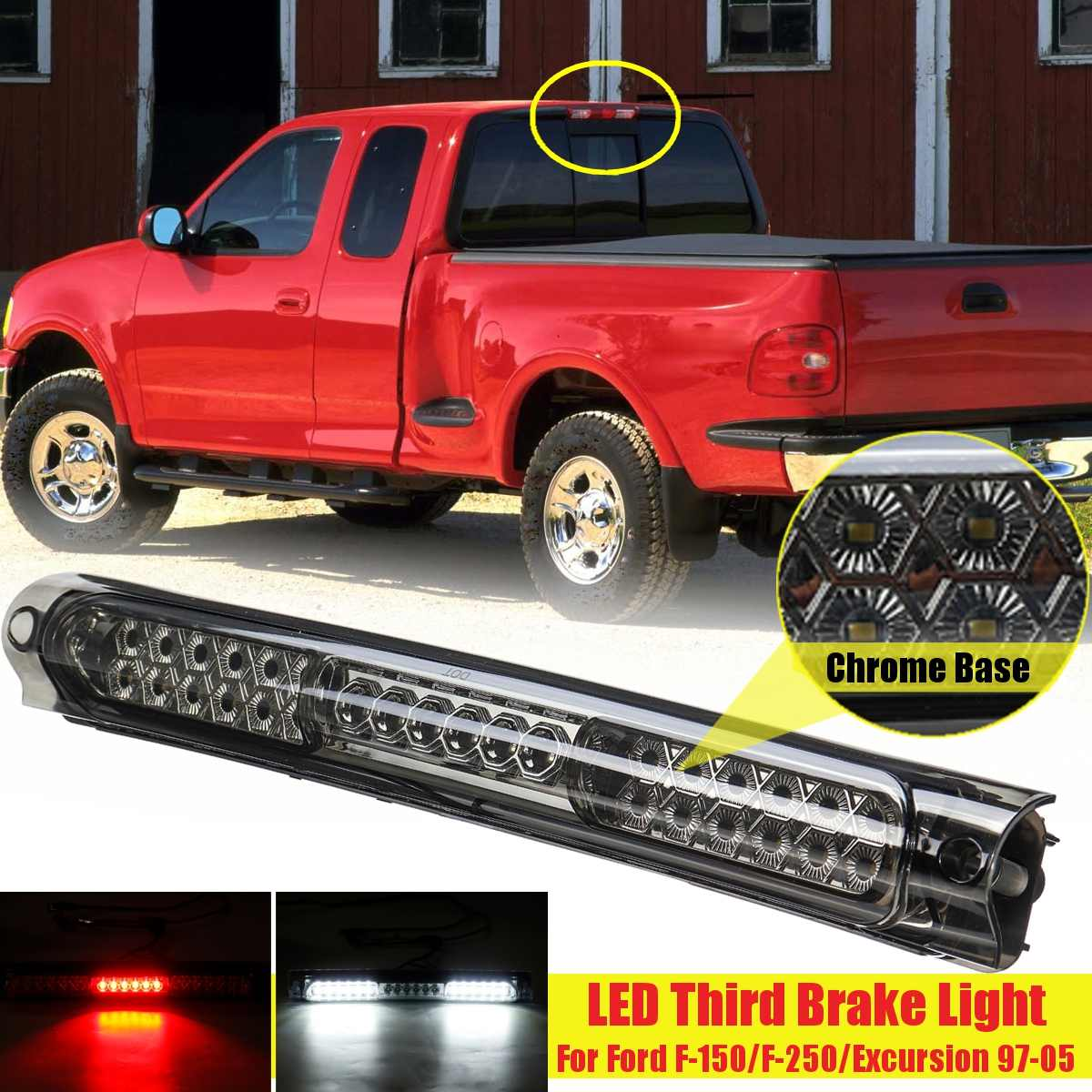 Car Led High Brake Light For Ford F-150 F-250 F150 F250 1997 1998 1999 2000 2001 2002 2003 Car Rear Taillight Third Signal