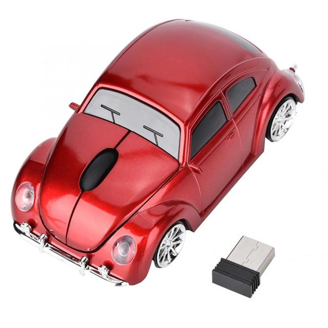 Bảng giá Brand New Wireless Beetle Car Shell Model Optical Mouse with Receiver for NANO2.4G mouse pad gamer Phong Vũ