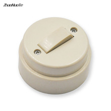 Flat Round Switch,Bedside Control Switch Single Open Switch, Old