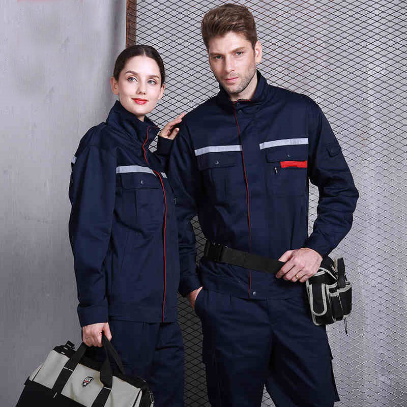 Working Uniforms Autumn Winner Labor Insurance Service Clothes Set Coveralls Dirty Wear-resistant Workshop Reflective Strip Suit