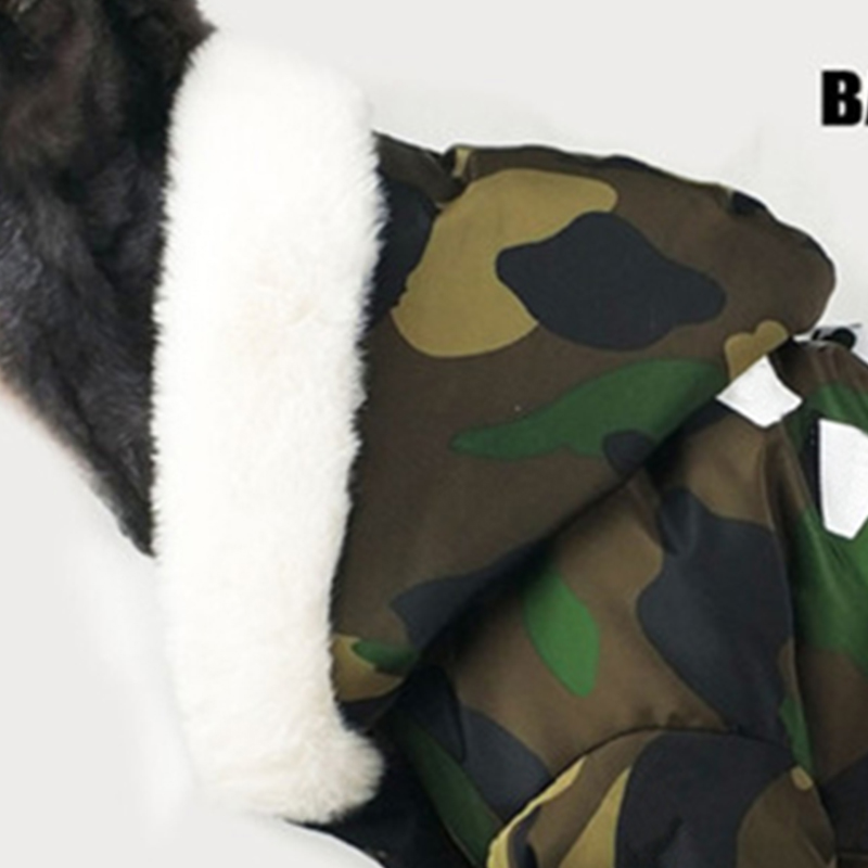Image 4 - Thicken Winter Camouflage Coat Pet Dog Winter Clothes for Small  Dogs Pets Clothing French Bulldog Yorkshire Pug Fashion JacketDog Coats