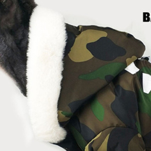 Image 4 - Thicken Winter Camouflage Coat Pet Dog Winter Clothes for Small Dogs Pets Clothing French Bulldog Yorkshire Pug Fashion Jacket