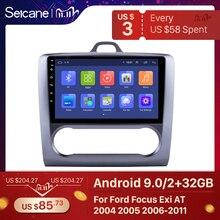 Seicane 2 DIN 9 дюймов Android 9,0 GPS навигация Сенсорный экран четырехъядерный автомобильный радиоприемник для 2004 2005 2006 2011 Ford Focus Exi AT