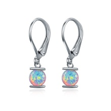 Fashionable Lantern-Shaped Design Earrings Cute White Round Earrings Women Wedding Engagement Party Earrings Jewelry Gifts