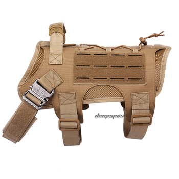 Tactical Dog Vest Military Hunting Shooting Cs Army Service Dog Vests Nylon Pet Vests Airsoft Training Molle Dog Vest Harness 12