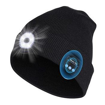 Women Men Fashion Warm Beanie Bluetooth LED Hat Wireless Smart Cap Headset Headphone Speaker Flashlight Outdoor Sport Caps
