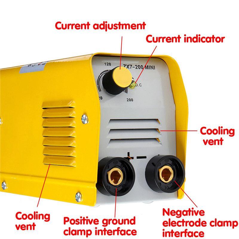 Equipo de soldadura eléctrica mini 20A-200A, inversor de CC IGBT, 50-60Hz, ZX7-200, 220V