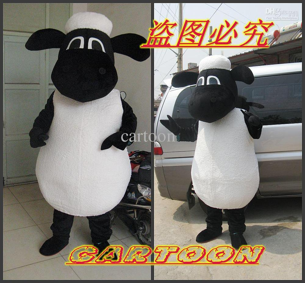 Professional the cute Shaun The Sheep Mascot Costume Adult Birthday Party Fancy Dress Halloween Cosplay Outfits Clothing Xmas