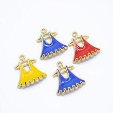 Cheap Fashion Skirt Shape Alloy Beads Diy Jewelry Make Pendant Bracelet For Women Metal Charm Wholesale M500