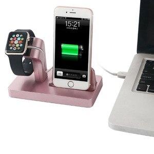 Image 2 - 2In1 Apple için şarj Dock İstasyonu şarj tutucu iPhone 11 pro xs max xr 7 8 cargador inal mbrico chargeur sans fil