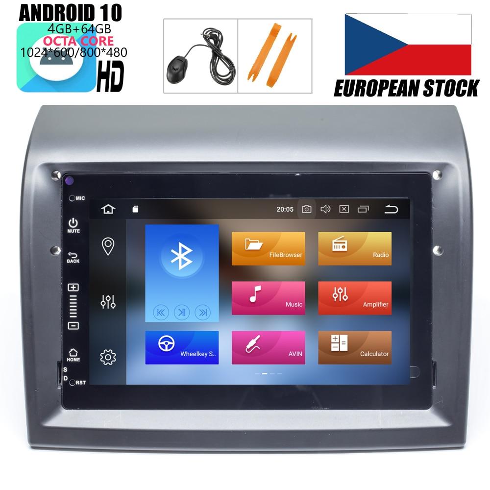 Автомобильный DVD-плеер HIRIOT с GPS-навигацией, Android 10, 4 Гб + 64 ГБ, для Fiat Ducato 2006 + CITROEN Jumper Peugeot Box Radio BT WIFI MAP