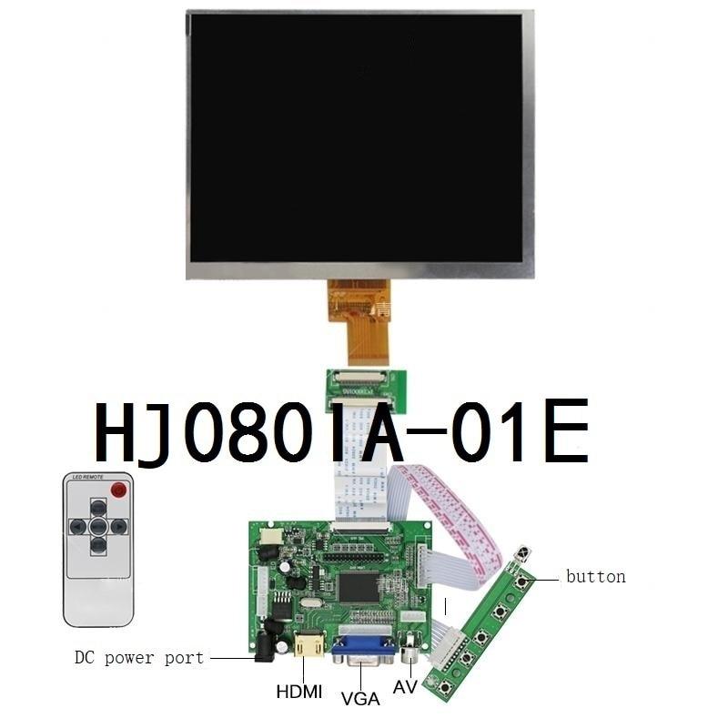 Latumab 8 Inch IPS 1024*768 Tablet HD Screen LCD Display HJ080IA-01E HE080IA-01D Driver Board HDMI Control Monitor For Raspberry