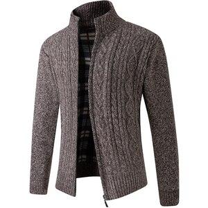 Осенние мужские модные свитера, Повседневный Кардиган 2020 года, пальто с длинными рукавами, плотный лоскутный классический сохраняющий тепло мужской MOOWNUC на весну|Кардиганы|   | АлиЭкспресс