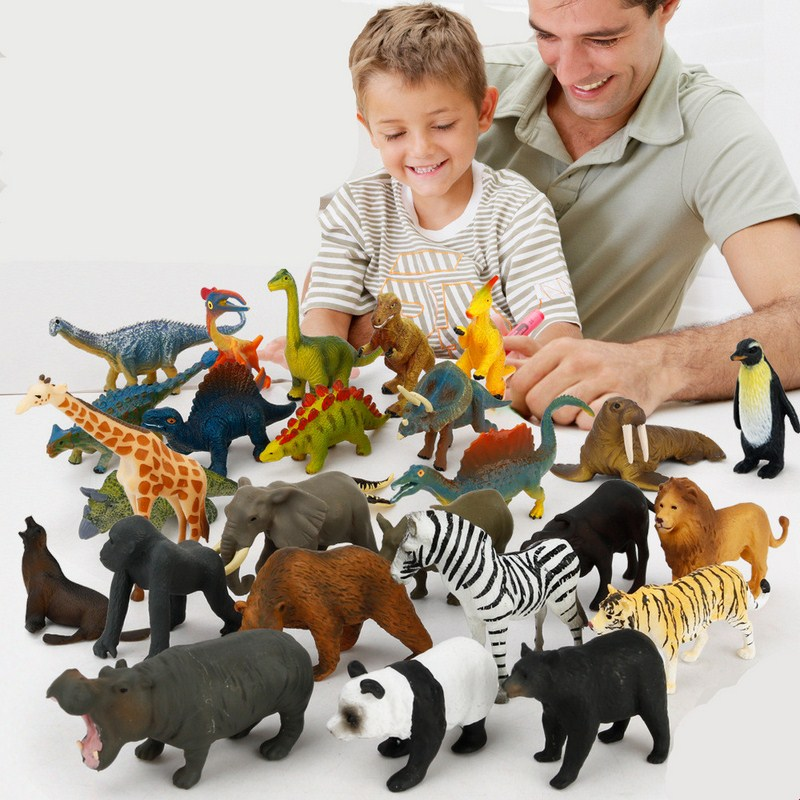 Ocean Sealife Animals Sets Bule Whale Dragon Dinosaur Toys Animal Collectible Model Educational Learning for Children