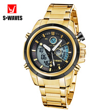 New brand grand fashion table mens waterproof sport steel band watches,