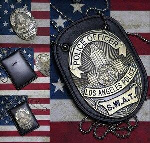 Image 1 - جديد 1 قطعة لا الشرطة SWAT ضابط شارات بطاقة ID بطاقات حامل 1:1 هدية تأثيري جمع هالوين شارة معدنية الدعامة هدية