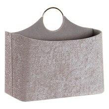 Magazine rack DKD Home Decor Polyester Velvet Beige (37 x 19 x 30 cm)