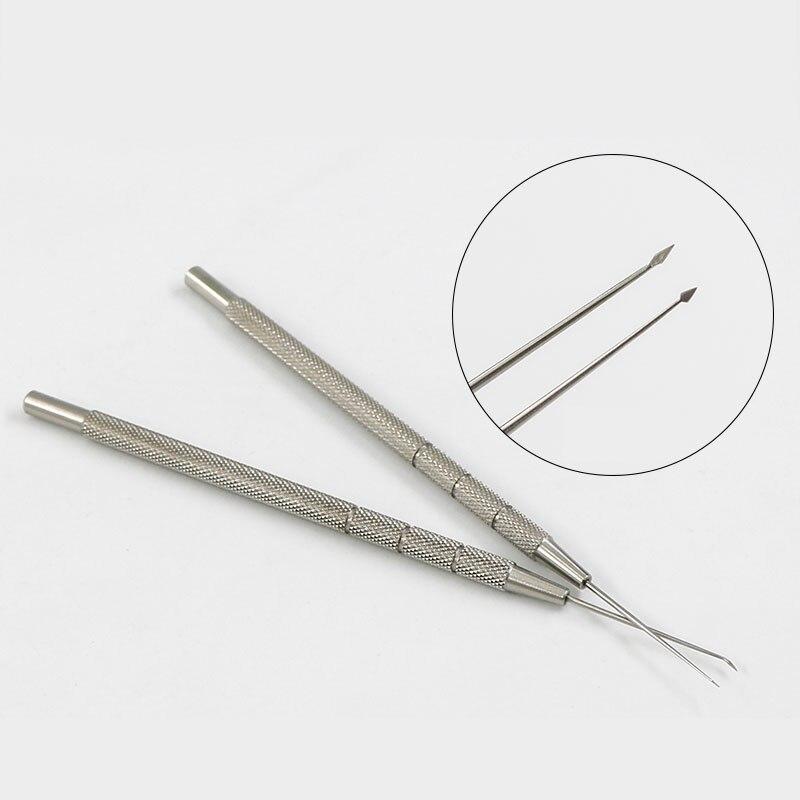Instrumento de oftalmologia microscópico corpo estrangeiro agulha