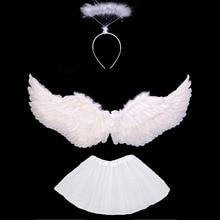 Kostüm Kinder Frauen Mädchen Engel Feder Flügel Tutu Rock Halo Ring Stirnband Party Geburtstag Geschenk Karneval Hochzeit home decor