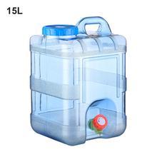 15L 20L чистой воды Пластик ведро воды дома контейнер для хранения с крышкой автомобиля само-вождение с кран минеральной воды баррель