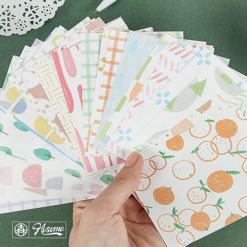 30 Pcs/set Kawaii Memo Pad Cute Fruit King Ring Basic Pattern Cute Memo Pad Stationary Memo Pads Cute Office Decoration