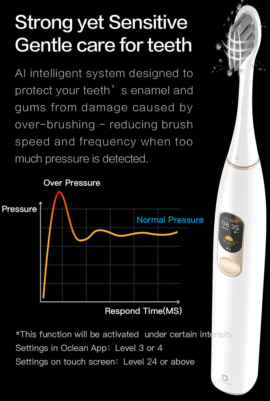 H7ce634820f494f4b9d31cc14e0cbc49dS - Global Version Oclean X Sonic Electric Toothbrush Color LCD Touch Screen IPX7 4 Brush Modes Fast Charge 30 days Tooth Brush