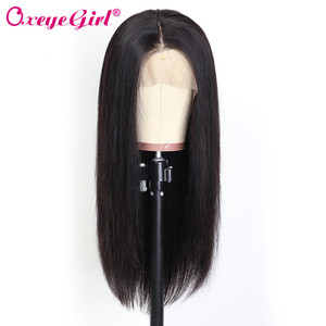 Image 2 - Fake Scalp Wig 13x6 Lace Front Human Hair Wigs Pre Plucked Brazilian Hair Straight Lace Front Wig Oxeye girl Remy Hair Wigs