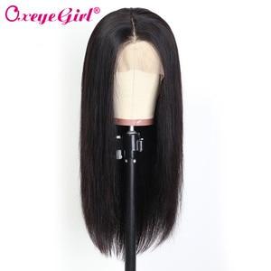 Image 2 - Oxeye kız 13x6 dantel ön İnsan saç peruk ön koparıp sahte saç derisi peruk 10 26 brezilyalı saç düz dantel ön peruk Remy saç