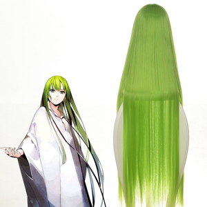 "Image 3 - Code Geass C.c Cc Empress Cosplay Wig 100cm 39"" Green Long Straightheat resistant Fiber Hair Peruca Anime Costume Wigs"