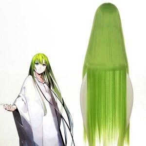"""Image 3 - Code Geass C.c Cc impératrice Cosplay perruque 100cm 39 """"vert longue fibre de cheveux résistant Peruca Anime perruques de déguisement"""