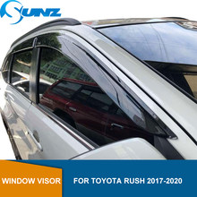 Side Window Deflector Voor Toyota Rush 2017 2018 2019 2020 Acryl Zwart Window Shield Zon Regen Deflector Guards Sunz(China)