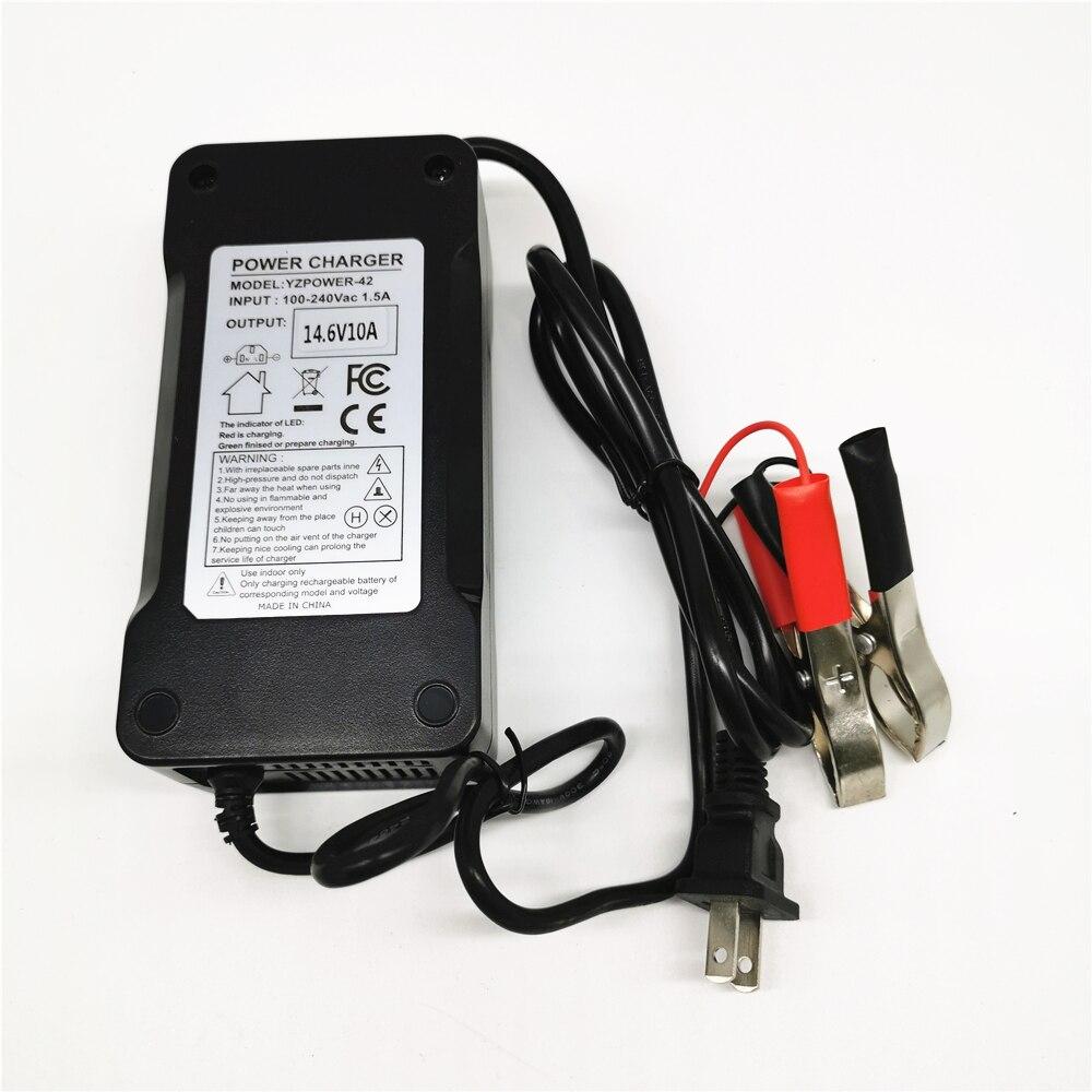 Выход 14,6 V 10A & 5A 12V 10A Lifepo4 Батарея Зарядное устройство с вилка европейского и американского зажимы зарядки постоянного тока шарнир адаптер Вх