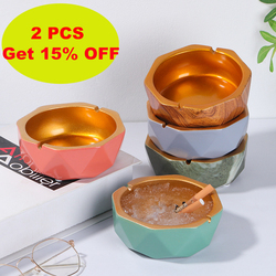 Ashtray Simple Creative Polygonal Anti-fly Ash Resin Ashtray Home Living Room Office Interior Decoration Ashtray