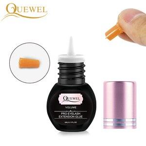 Image 3 - Quewel Eyelashes Extension Glue Set 5ml Lash Glue And 5g Gel Remover Pen 1 2 S Quick Drying Removing Individual Eyelash Tool