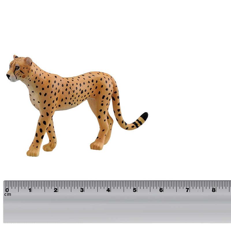 Takara Tomy ANIA Advanture COMO-13 Cheetah Animal Selvagem 5 centímetros Figura ABS Crianças Brinquedos Educativos