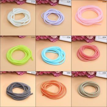 Uniwersalny nowy kolorowy kabel do telefonu komórkowego Winder Wire Case ochrona linii danych sznurka sprężynowego tanie i dobre opinie CN (pochodzenie) Z tworzywa sztucznego Data line protector length 140 cm Cable Winder