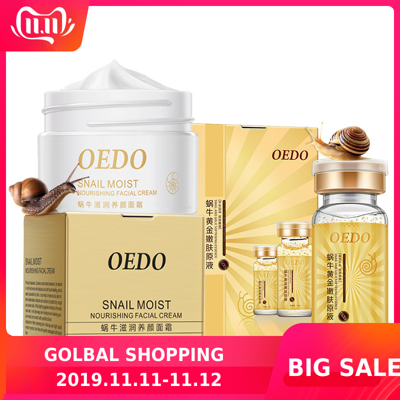 OEDO Snail Cream+ Snail And Gold Essence Hydrating Hyaluronic Acid Skin Care Anti-aging-wrinkle Moist Nourishing Firming Repair