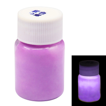 purple Glow In The Dark Luminous Sand Acrylic Fluorescent Paint Party Bright Star Nail Decoration Halloween 20g