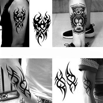 Waterproof Temporary Tattoo Men's Fire Tatoo Eagle Lotus Mandala Eye Flame Totem  Water Transfer Fake Tatto For Man
