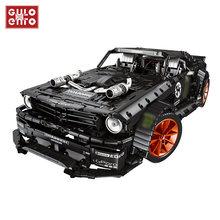 Mustang Hoonicorn-bloques de construcción de coches de carreras para niños, juguete de ladrillos para armar coche deportivo de carreras a control remoto, ideal para regalo, 3168 Uds.
