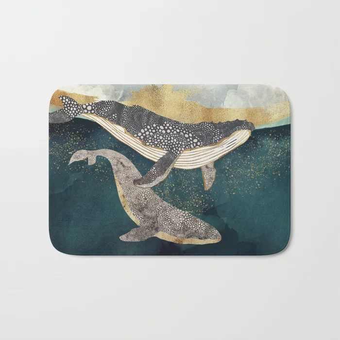 Nordic Doormat Bond Sea Whale Rug Print