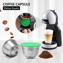 Capsule Dolce Gusto Fit-Nescafe for Coffee with FILTER-GROUND Metal Stainless Icafilas