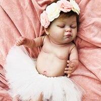 50cm Girl Eyes Closed High Quality Full Body Silicone Reborn Dolls Born Alive Brinquedos Realistic Baby Toy bebes reborn