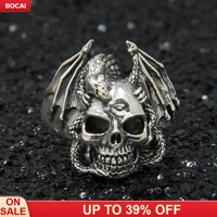 925 sterling silver Gothic punk hoe dragon ring stylish single Thai silver ring