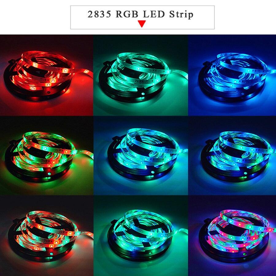 900 Led Strip Light 2835 SMD RGB Tape 5M 10M 15M 20M DC12V 3528 Flexible RGB LED Stripe Ribbon Diode +WiFi 24Key Controller+Adapter (2)