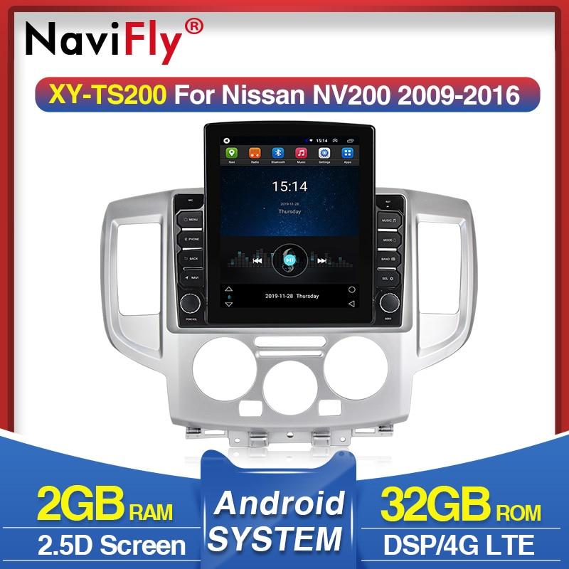 Hd 9.7 vertical vertical tela de tesla vertical 4g lte autoradio ips dsp para nissan nv200 2009-2016 android carro multimídia navegação