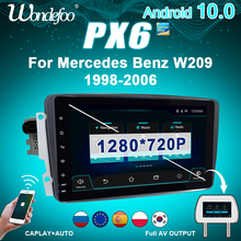 Wondefoo PX6 1 DIN Android 10รถวิทยุสำหรับBenz W209 W203 W168 W208 W463 W170 Vaneo Viano Vito E210เสียงอัตโนมัติBTไม่มี2DIN 2 DIN